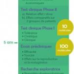 Infographie : chronologie d'un essai clinique