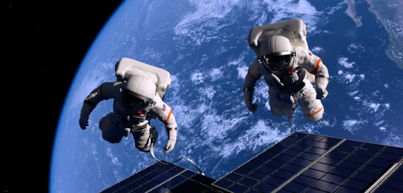 Jumeau espace terre