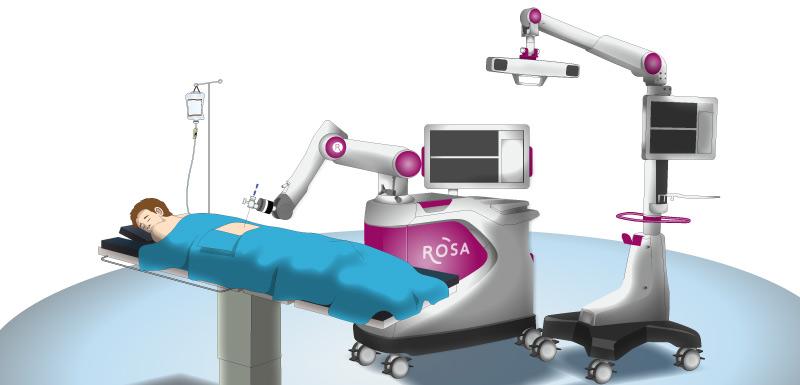 Robot Rosa opère un enfant