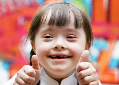 enfant atteint de trisomie 21