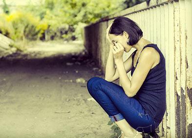 femme déprimée et douleur en santé mentale