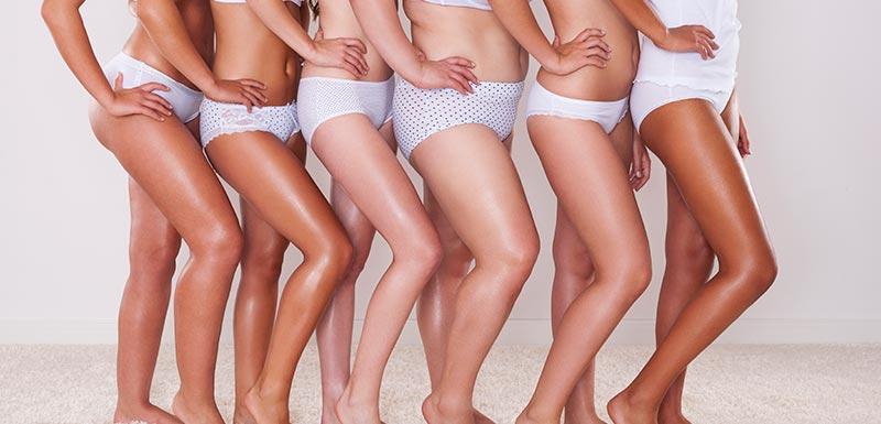 Différents corps de jeunes femmes