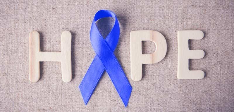 Ruban bleu en soutien à la journée mondiale de la SEP