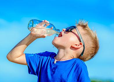 Déshydratation chez l'enfant
