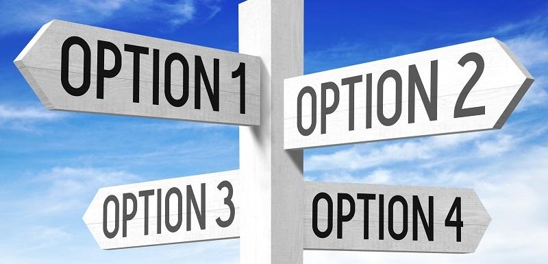 concepts des choix : panneaux des options