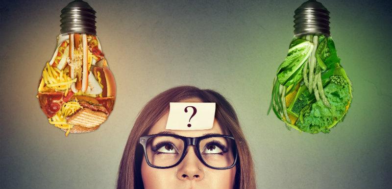 Le choix des aliments par le cerveau.