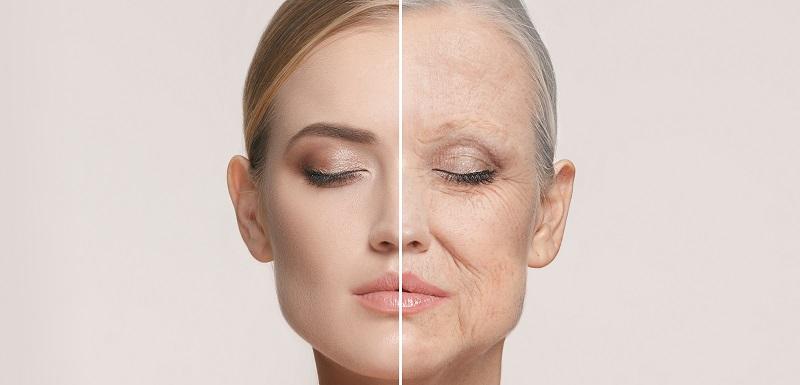 Le vieillissement d'une femme