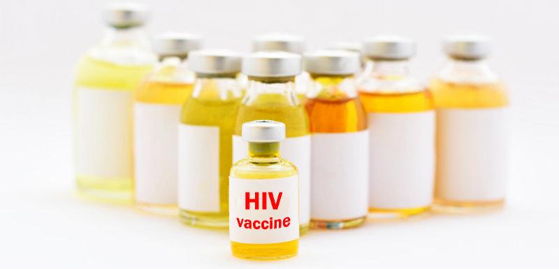 Flacons de vaccin contre le VIH