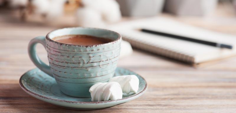 Tasse de chocolat chaud / cacao
