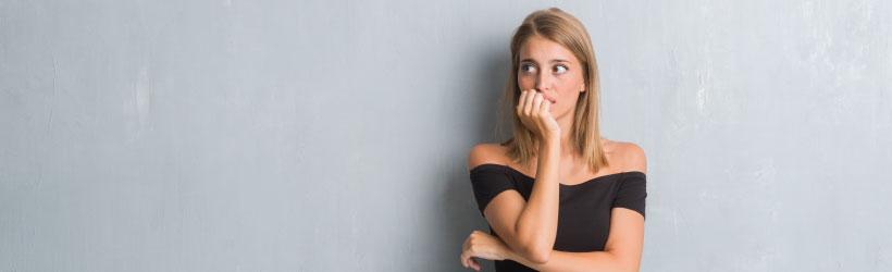 Femme sujette au stress