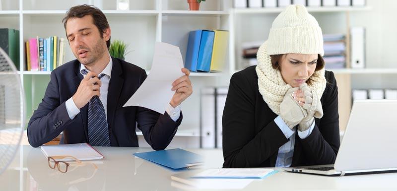 Travail au bureau : pourquoi faut-il régler la température à 24°C ?