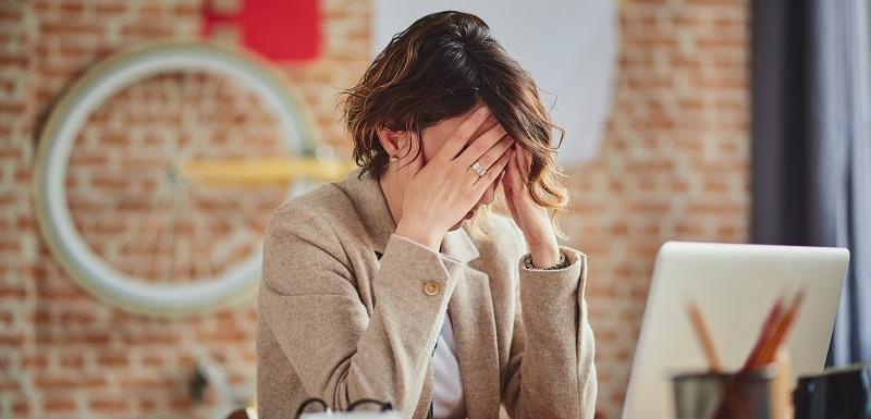 Une femme stressée