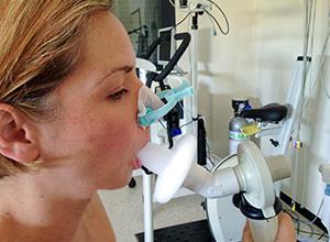Spirométrie d'une femme