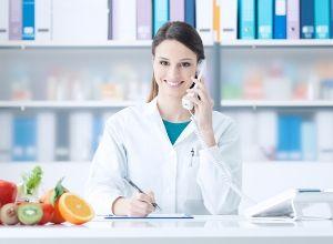 Nutritionniste au téléphone