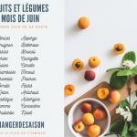 Découvrez la liste des fruits et légumes du mois de Juin