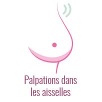 Schéma de l'auto-examen des seins : palpations dans les aisselles