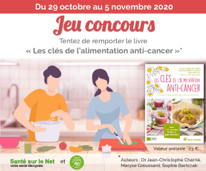 Jeu concours Facebook - Tentez de remporter le livre « Les clés de l'alimentation anti-cancer » du 29 octobre au 5 novembre 2020