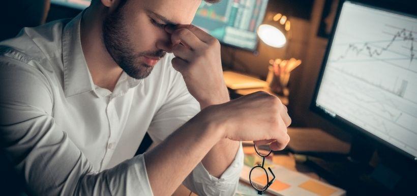 fatigue oculaire chez un homme