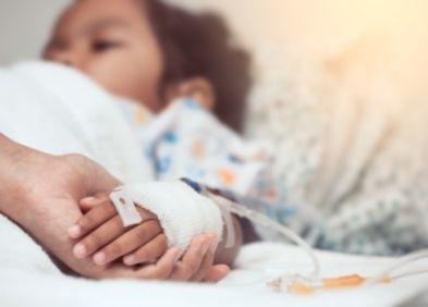 enfant malade alité