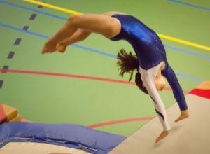 athlète gymnastique